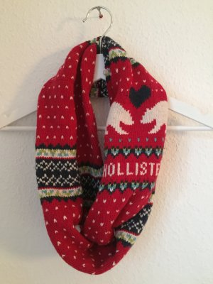 Loop Schal und Hand Schuhe Hollister rot Eisbären