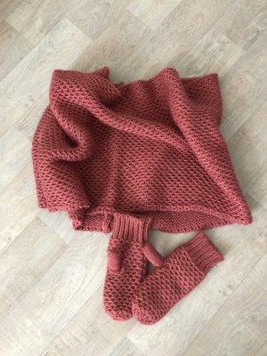 Loop-Schal und Handschuhe /Fäustlinge von pieces
