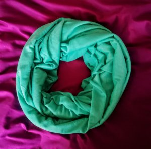 Helena Vera Bufanda tubo verde Poliéster