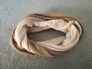 Amisu Écharpe tube marron clair-beige