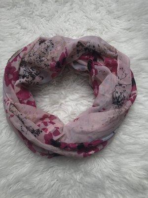 Loop Schlauchschal Rundschal Pink Rosa Blumen Neu