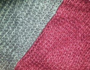 Bufanda tubo gris-burdeos