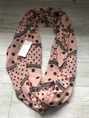 Anna Field Halsdoek zwart-roze