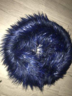 Snood blauw Kunstbont