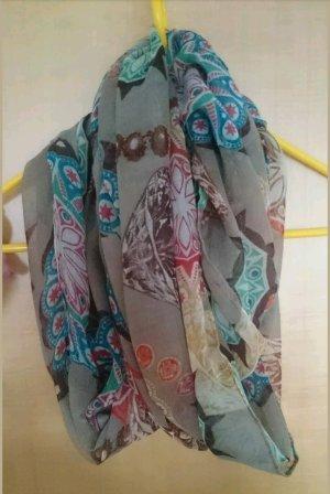 Bufanda tubo marrón grisáceo