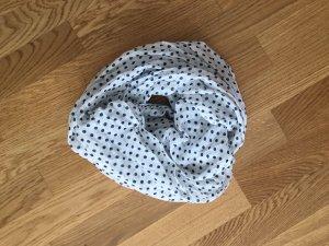 Bufanda tubo blanco-azul oscuro