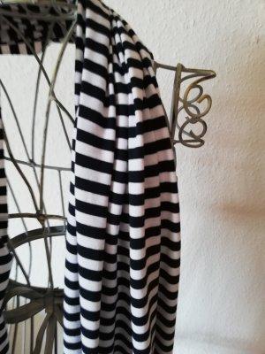 Bufanda tubo blanco-azul oscuro Algodón