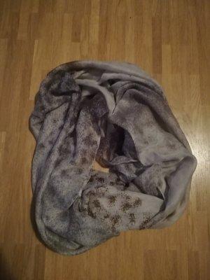 Tubesjaal lichtgrijs-bruin