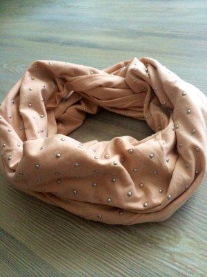 LoopSchal rosa mit Nieten