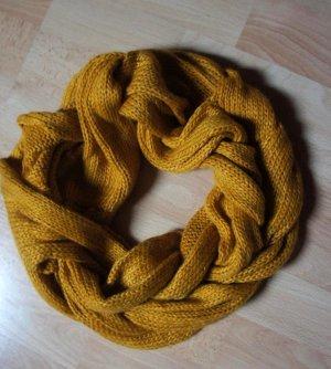 Loopschal Schlauchschal camel curry senf farben - luschelig warm - Top
