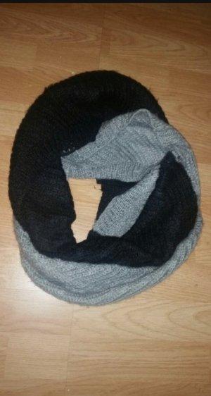 Loopschal schwarz grau