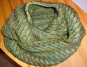 Écharpe ronde multicolore laine