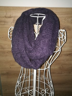Écharpe ronde gris violet-violet foncé