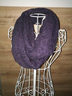 Sciarpone viola-grigio-viola scuro