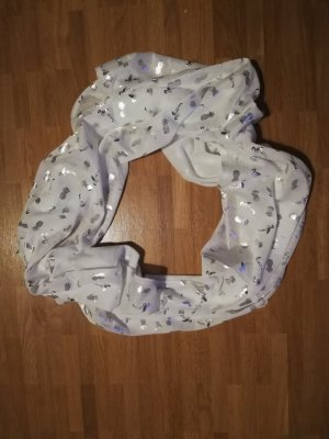 Tube Scarf white-silver-colored