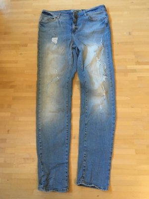 Noisy May Baggy Jeans azure cotton