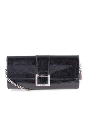 Lorbac Clutch silberfarben-schwarz Elegant