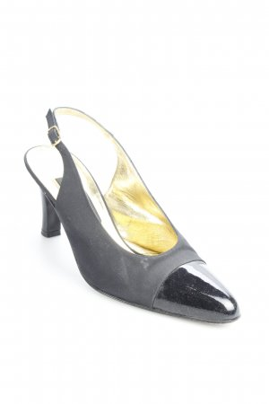 Lorbac Slingback-Pumps schwarz-goldfarben Eleganz-Look