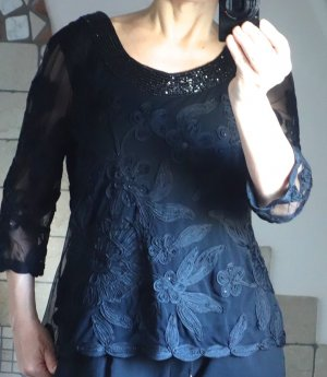 Lorena Lace Blouse black viscose