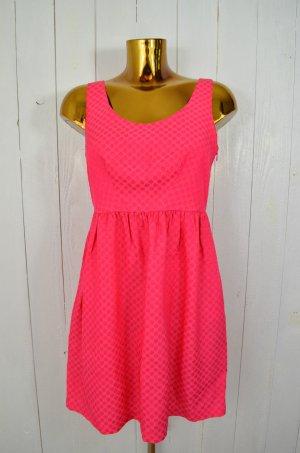 LOREAK MENDIAN Damen Kleid Trägerkleid Sommer Pink Punkte Seidegemisch Gr.S
