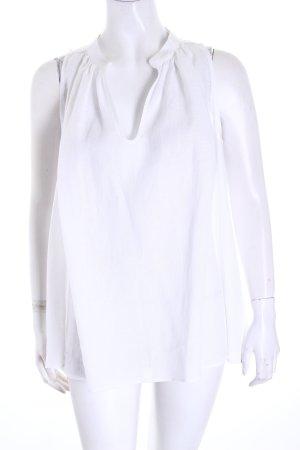 Lorenzini ärmellose Bluse weiß schlichter Stil