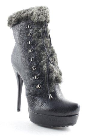 Loriblu Schnür-Stiefeletten schwarz-grau extravaganter Stil