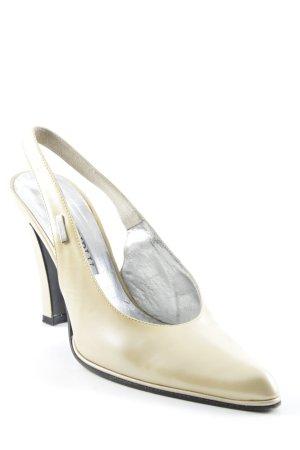 Loriblu Zapatos de tacón con barra en T color oro elegante