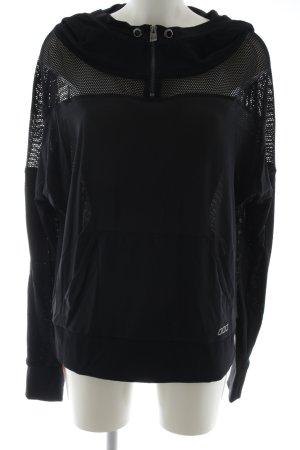 Lorna Jane Active Jersey con capucha negro estilo deportivo