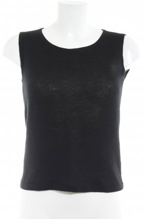 Loro Piana Basic Top black casual look