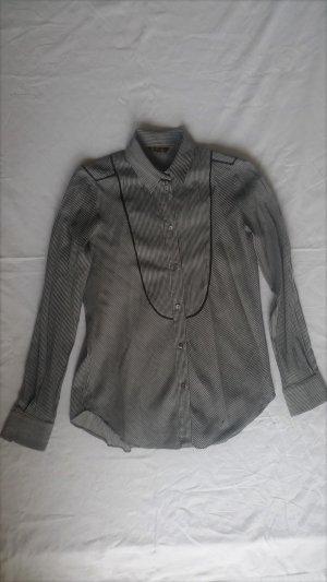 Loro Piana, Bluse, schwarz-weiß gestreift, It. 44, 67 % Seide, 33 % Baumwolle, neuwertig, € 750,-