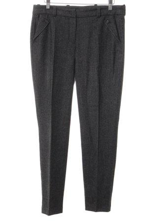 Loro Piana Pantalon à pinces taupe-gris moucheté style classique