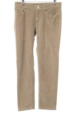 Loro Piana Pantalone di velluto a coste color cammello stile casual