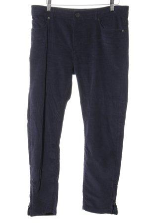 Loro Piana Pantalone di velluto a coste blu scuro stile casual
