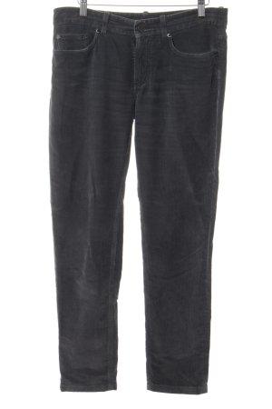 Loro Piana Pantalone di velluto a coste grigio scuro stile casual