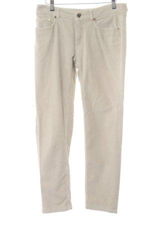 Loro Piana Pantalone di velluto a coste beige chiaro stile casual