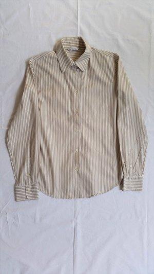 Loro Piana, Hemd, Baumwolle, beige-weiß gestreift, It. 44, neuwertig