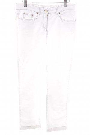 Loro Piana High-Waist Hose weiß Casual-Look
