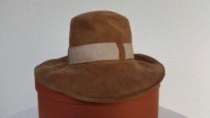 Loro Piana Chapeau panama brun cuir