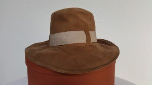 Loro Piana Panama Hat brown leather