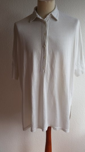 Loro Piana, Polohemd oversized, kurzärmlig, weiß, L, Leinen/Seide, neuwertig, € 1.250,-