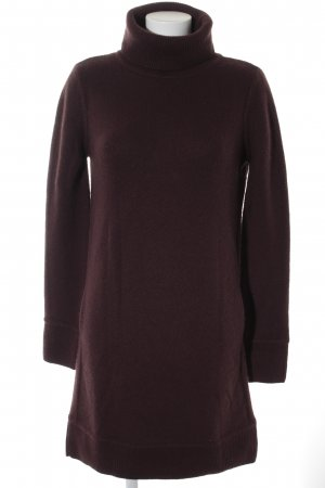 Loro Piana Sweater Dress brown red casual look
