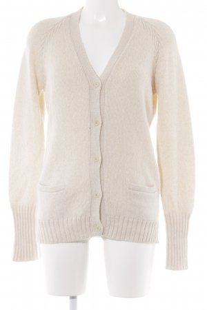 Loro Piana Strickjacke creme Casual-Look