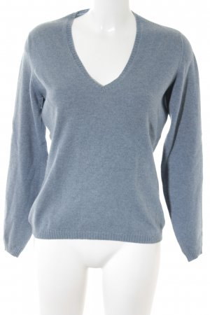 Loro Piana V-Ausschnitt-Pullover kornblumenblau Casual-Look