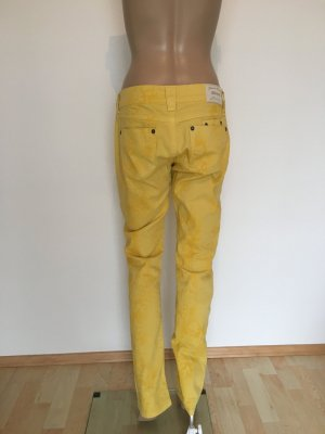 Lost in Paradise Drainpipe Trousers dark yellow-gold orange
