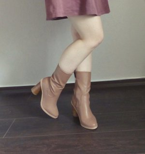 Lost Ink by Asos Gorzo Ankle Boots Stiefeletten 9cm Absatz braun
