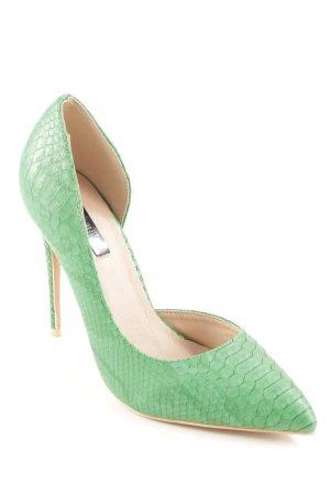 Lost Ink High Heels waldgrün extravaganter Stil