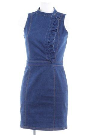 Lost Ink Jeanskleid blau Farbverlauf Casual-Look