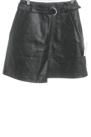 Lost Ink Leather Skirt black elegant