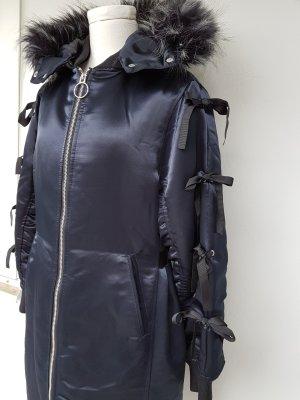 Lost Ink Winterjas donkerblauw