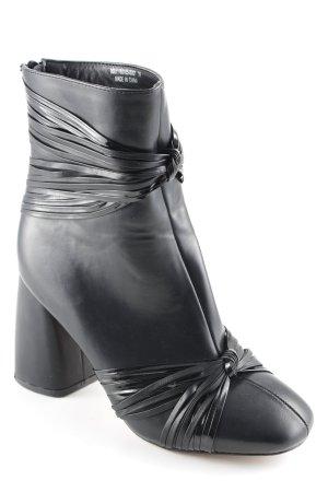 Lost Ink Reißverschluss-Stiefeletten schwarz Street-Fashion-Look